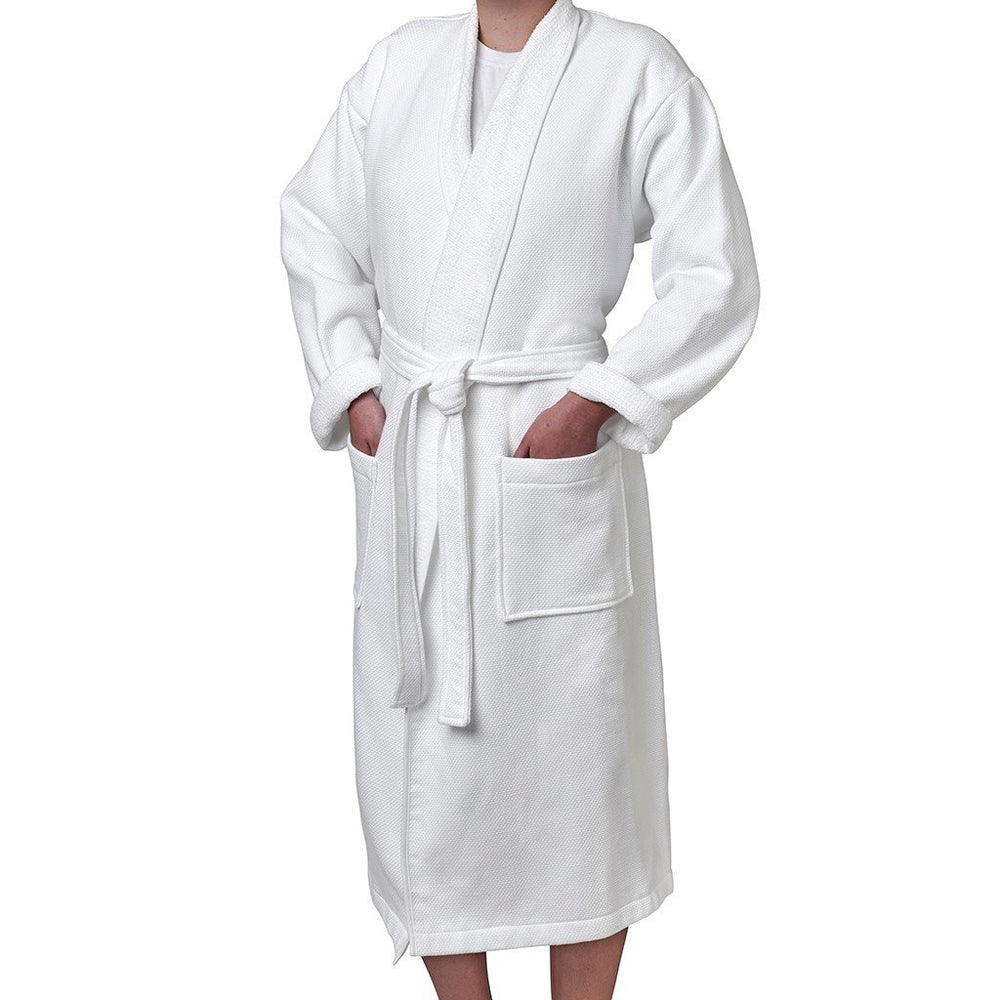Marseille Medium Unisex Robe in White