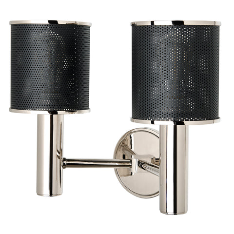 Montecito Wall Mounted Double Arm Sconce in Nickel