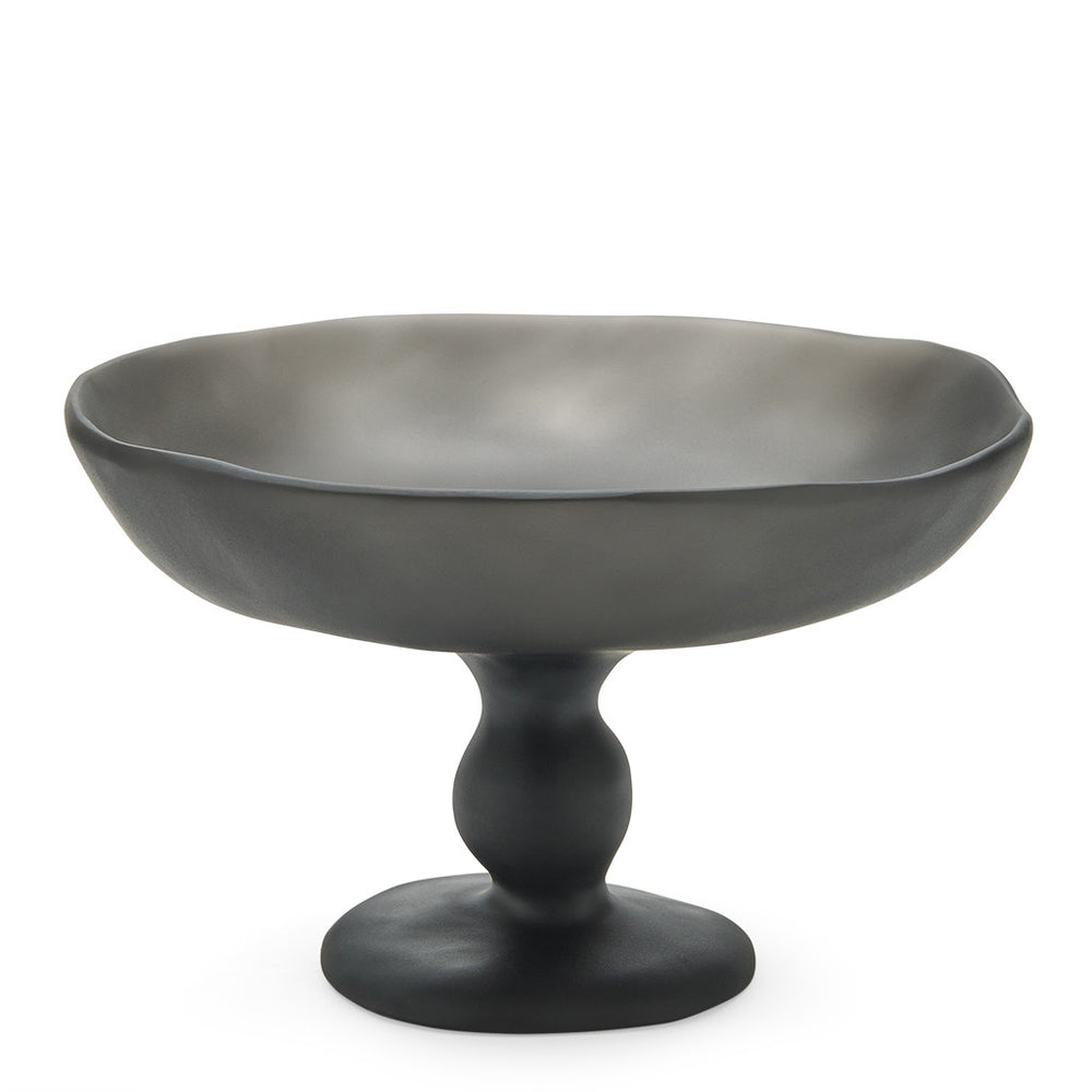 Waterworks Matrix Small Footed Bowl in Black