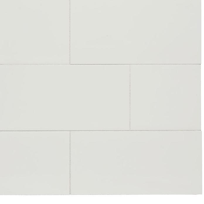 Waterworks Metrix Field Tile 3 7/8 x 7 5/8 in Cotton Glossy Solid