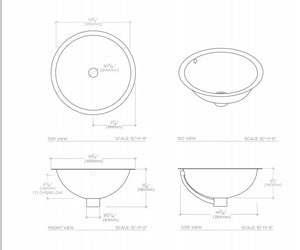 Waterworks Normandy Drop In or Undermount Round Hammered Copper Lavatory Sink in Matte Nickel