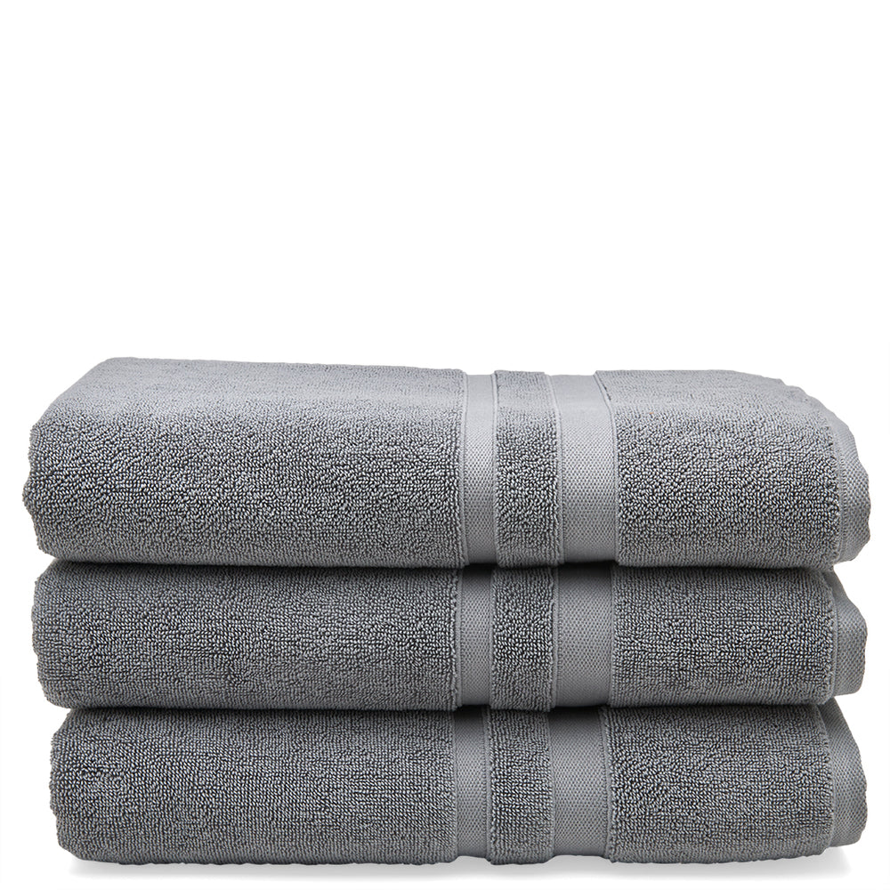 Perennial Cotton Bath Towel in Charcoal