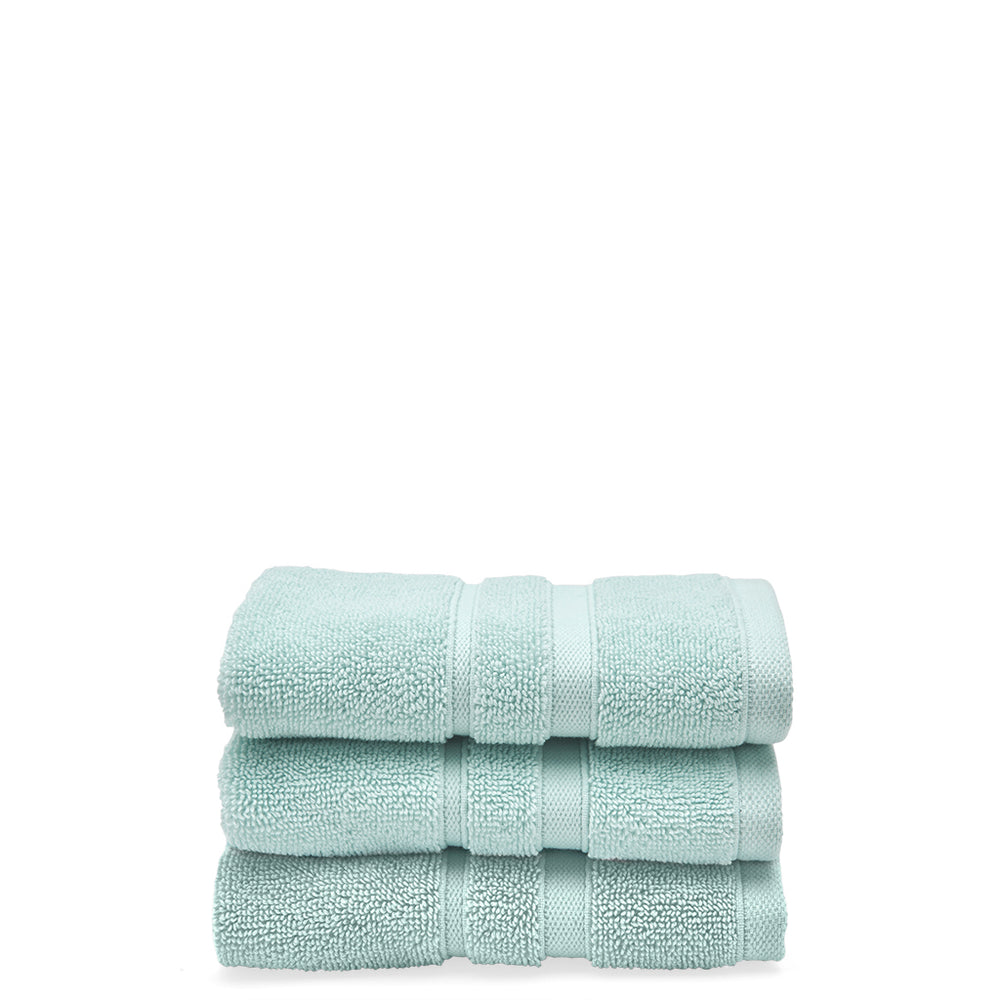 Perennial Cotton Wash Towel in Aqua