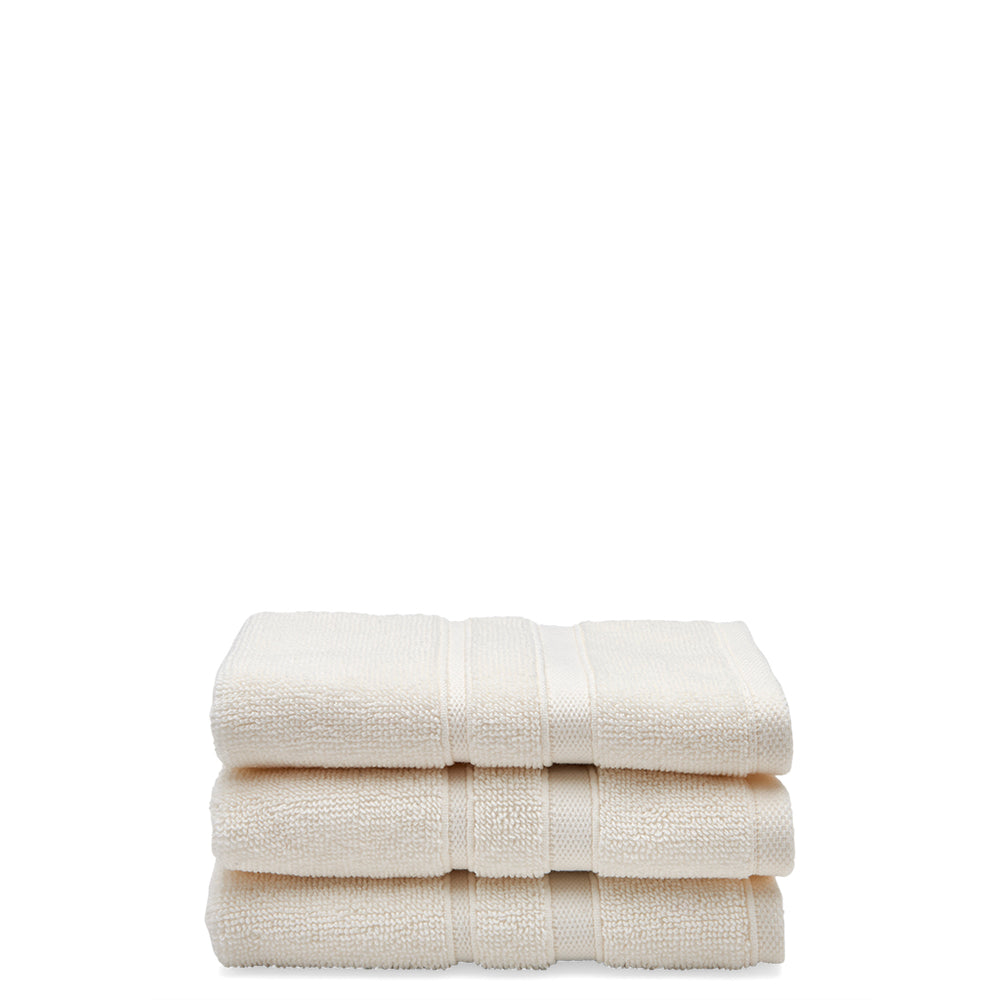 Waterworks Perennial Cotton Wash Towel in Ivory