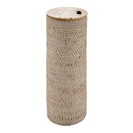 Waterworks Palm Toilet Tissue Basket in White Wash