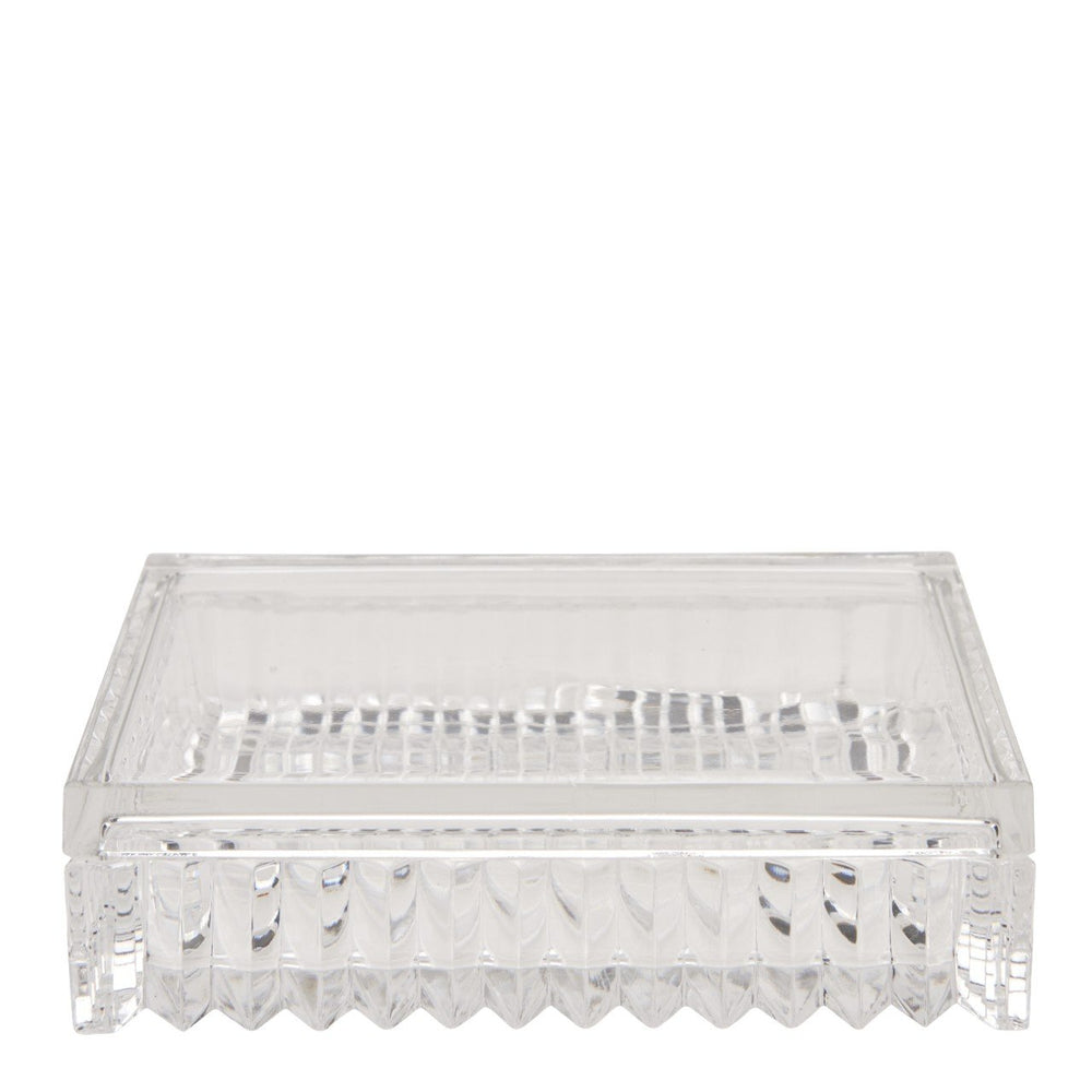 Waterworks Pierre Rectangular Covered Box in Clear