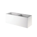 Waterworks .25 Lithic Rectangular Wall Mounted Double Sink in White