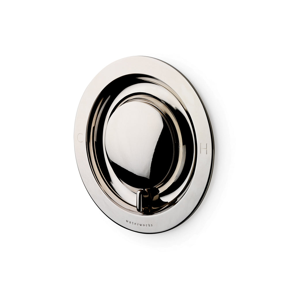Waterworks .25 Thermostatic Control Valve Trim with Metal Lever Handle in Sovereign