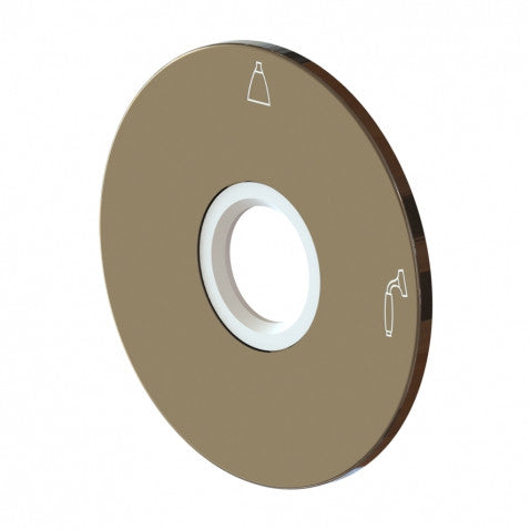 Two Way Pressure Balance Diverter Valve Trim Plate in Brushed Nickel