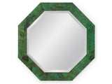 Kravet Adams Octagonal Mirror in Deep Jade Green