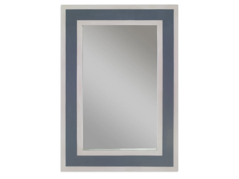 Kravet Abbot Stripe Mirror in Taupe Gray