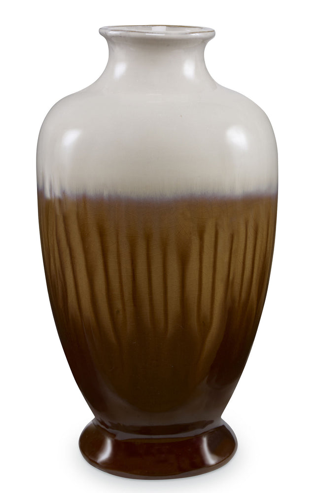 Kravet Adrien Pumpkin Vase in Brown For Sale