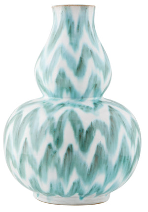 Kravet Natalia Chevron Vase in Green