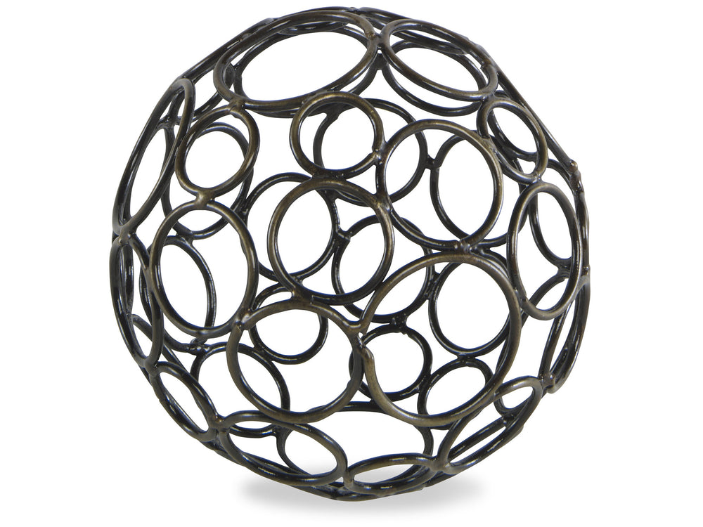 Kravet Circe Small Wire Orb in Bronze For Sale