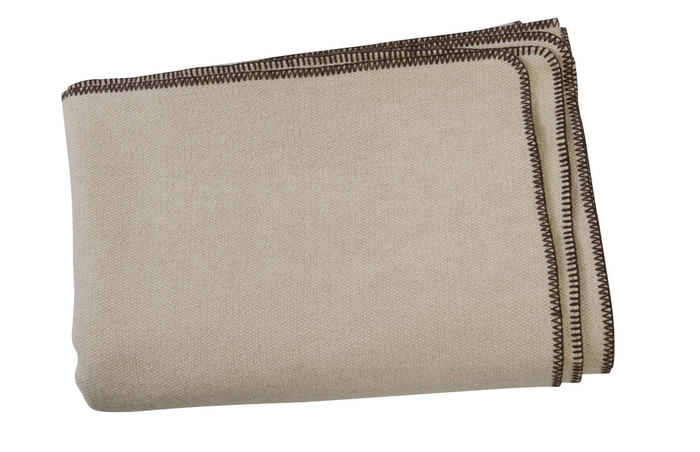 Kravet Soffice Cashmere Throw Blanket in Beige
