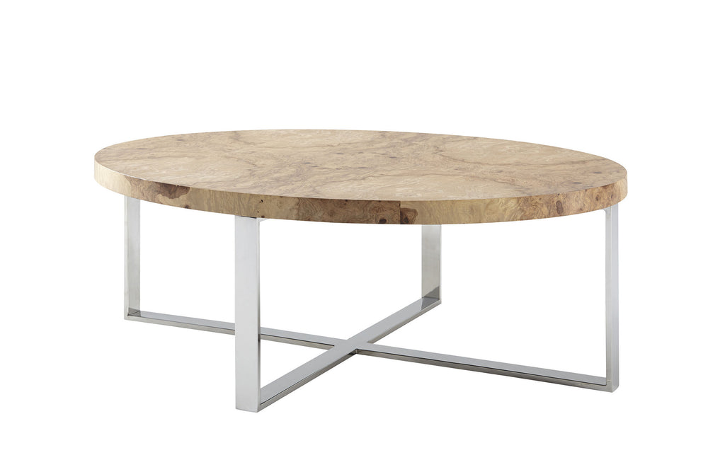 Kravet Norbro Burl Coffee Table in Brown