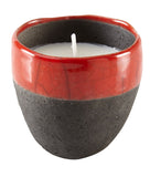 Kravet Filip Raku Candle in Red