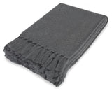 Kravet Ilona Mohair Throw Blanket in Gray