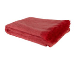Kravet Cebile Sheer Mohair Throw Blanket in Orange
