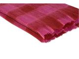 Kravet Thabo Plaid Mohair Throw in Red