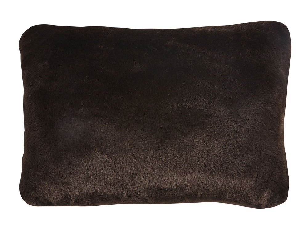 "Kravet Aurore Pillow Cover 14"" x 21"" in Dark Brown"