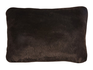 "Kravet Aurore Pillow Cover 14"" x 21"" in Dark Brown For Sale"