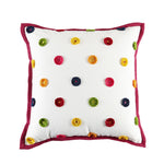 Kravet Paris Dotted Pillow in White