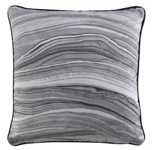 Kravet Modern Luxe Swirl Pillow Cover in Gray
