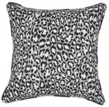 Kravet Alex Spotted Cat Pillow in Black
