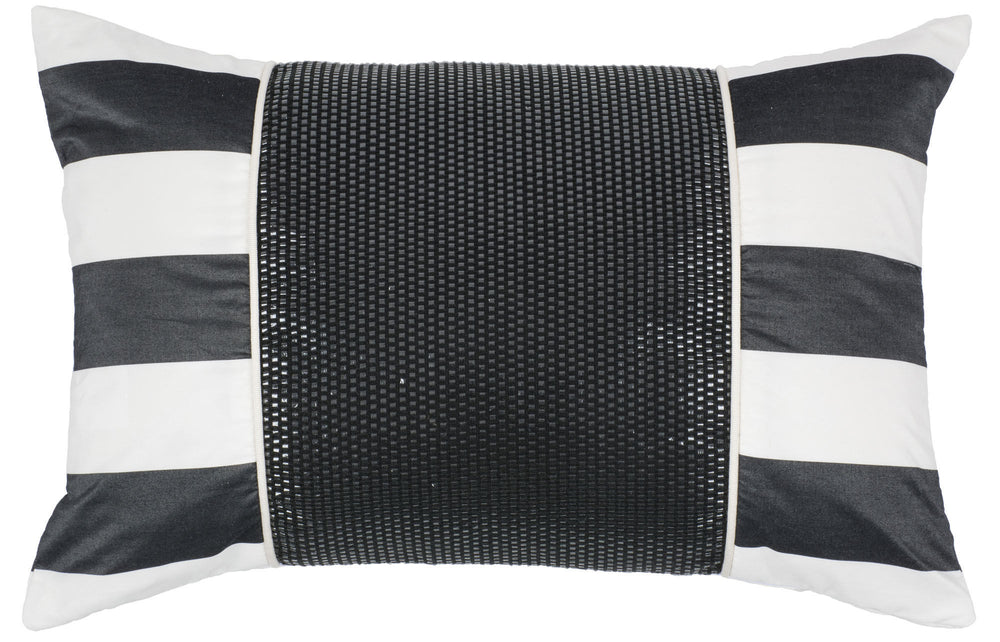 Kravet Alex Collage Pillow Cover in Black For Sale