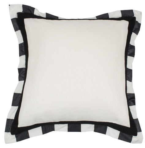 Kravet Alex Flanged Pillow in Black