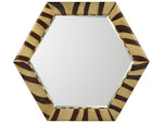 Kravet Serengeti Hexagonal Mirror in Beige