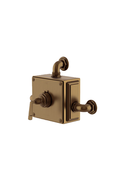 Waterworks R.W. Atlas Exposed Thermostatic Valve in Antique Brass