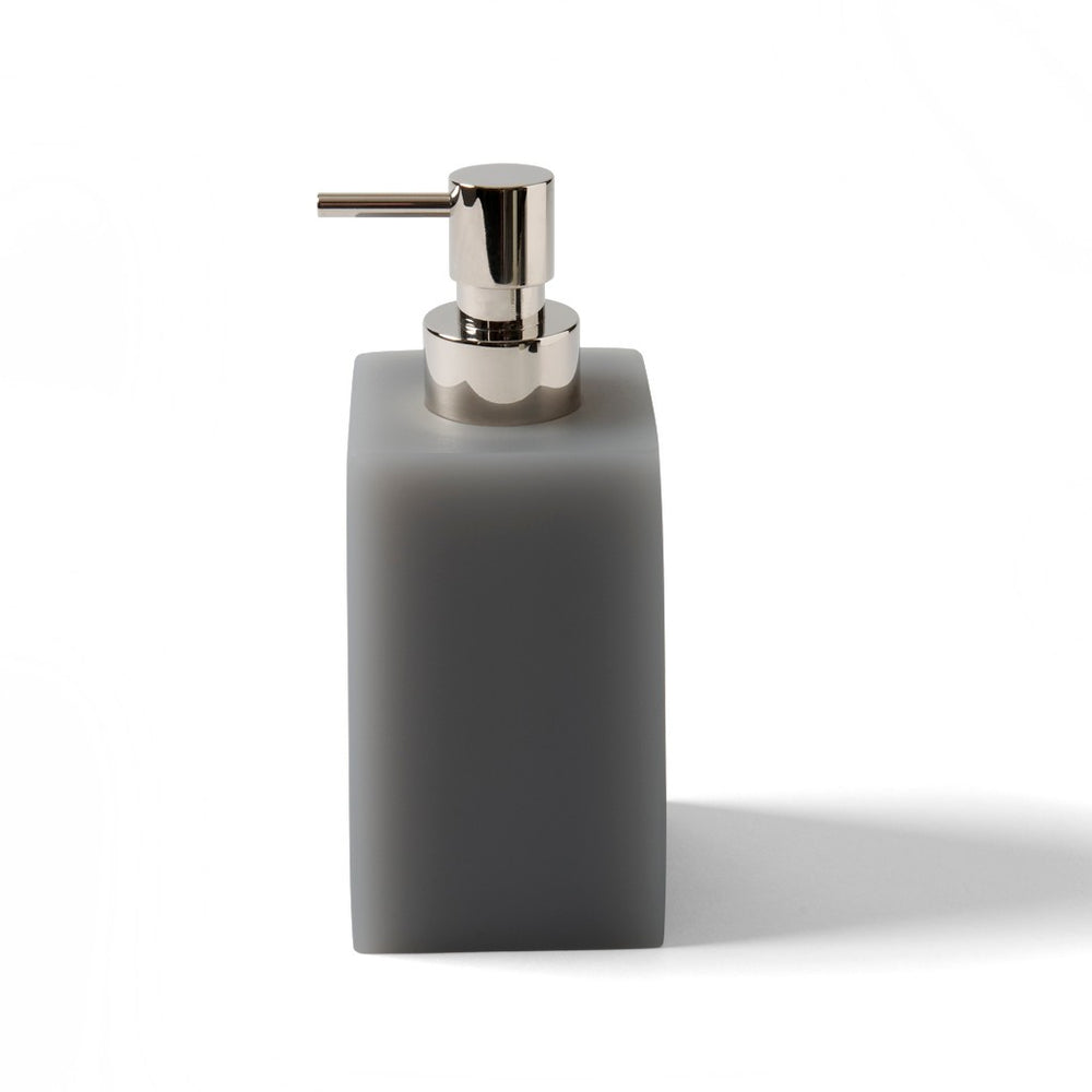 Waterworks Resin Soap Dispenser in Soft Gray
