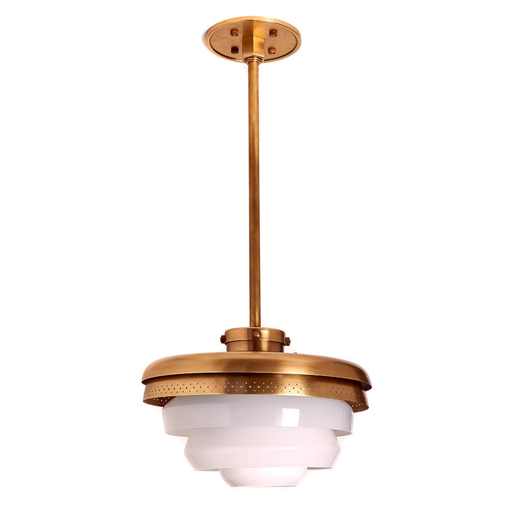 Waterworks RW Atlas Ceiling Mounted Pendant in Unlacquered Brass