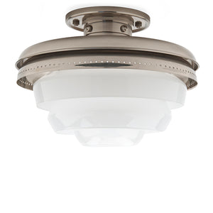 Waterworks R.W. Atlas Ceiling Flushmount in Burnished Nickel
