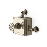 RW Atlas Exposed Thermostatic Valve with Metal Wheel Handle in Carbon