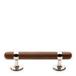 "Waterworks Stockton 6 1/4"" Walnut Pull in Nickel"