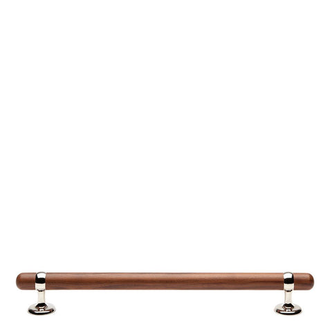 "Stockton 18"" Walnut Appliance Pull in Nickel"
