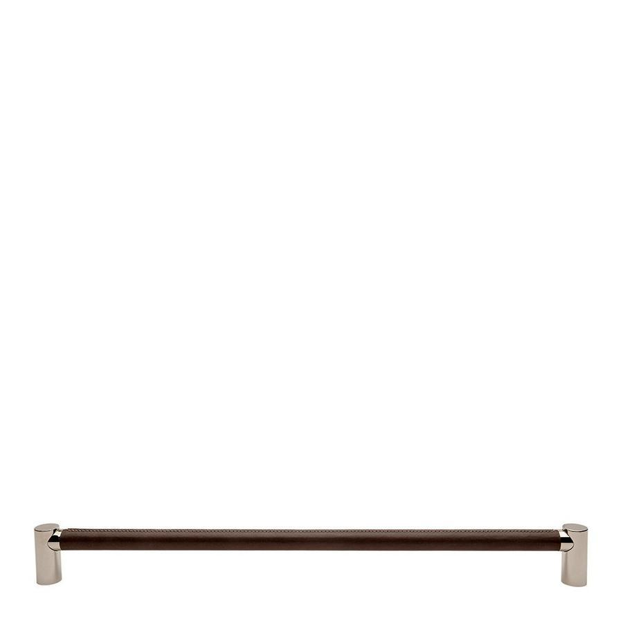 "Waterworks Sonoma 24"" Chocolate Leather Pull in Nickel"