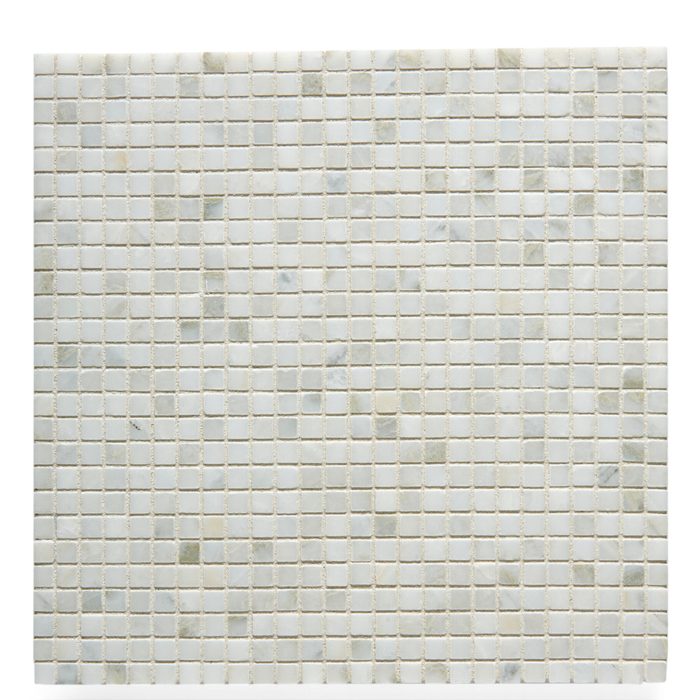 Waterworks Studio Stone 1cm Stacked Mosaic in Ariel Polished