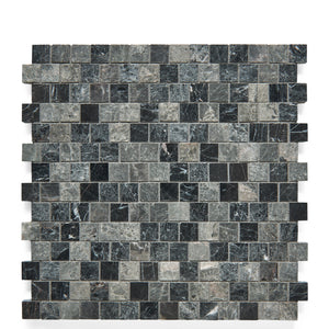 Studio Stone 2cm Staggered Mosaic in Graystone Polished