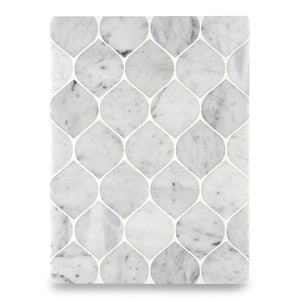 Waterworks Studio Stone Serpentine Mosaic in Gray Carrara Polished
