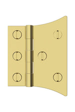 "Waterworks Salem 3"" Hinge in Unlacquered Brass"