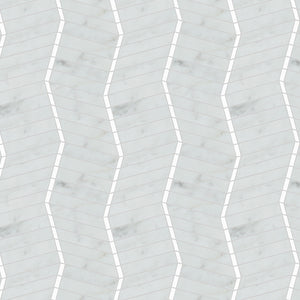 Waterworks Studio Express Zigzag Mosaic in Gray/White