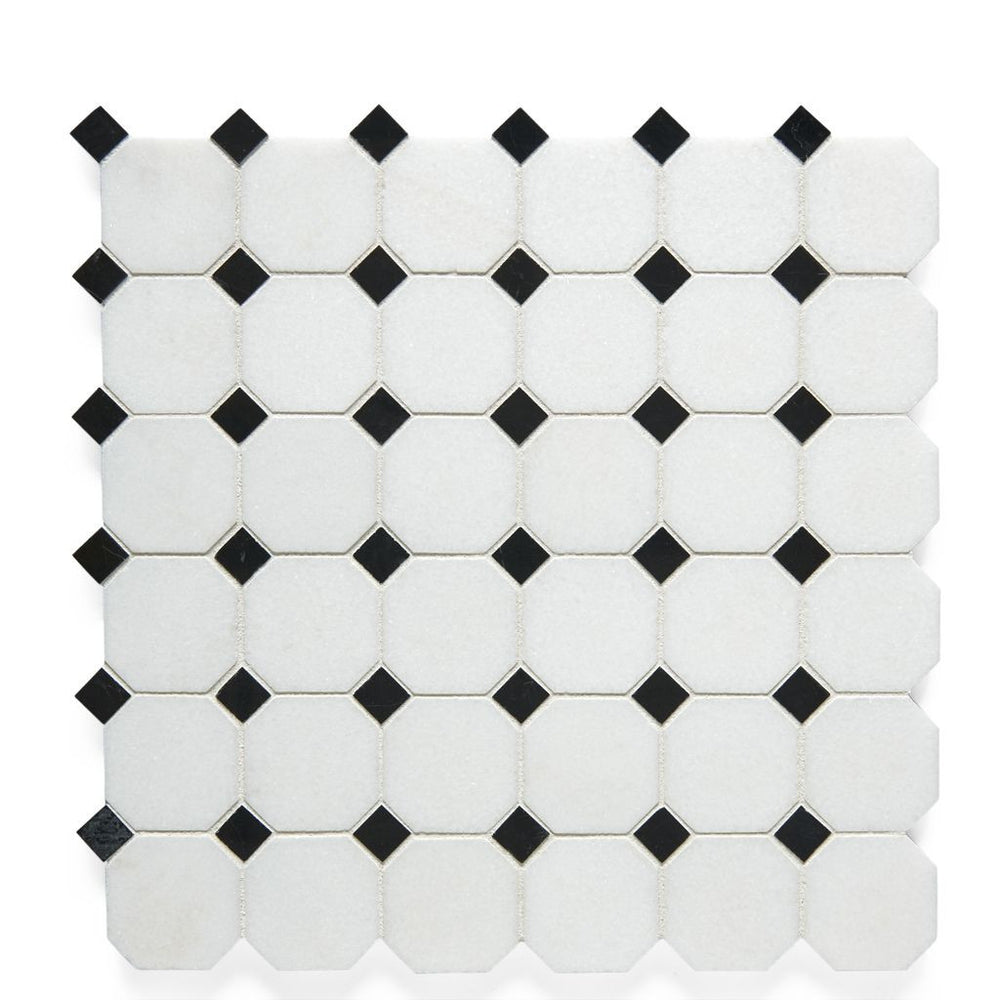 Waterworks Studio Mosaic Parker Mosaic in White Thassos/Eclipse Polished