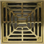 Waterworks Shower Drain Cover Only in Antique Brass