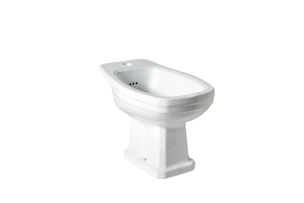 Waterworks Universal One Hole Horizontal Bidet in Bright White