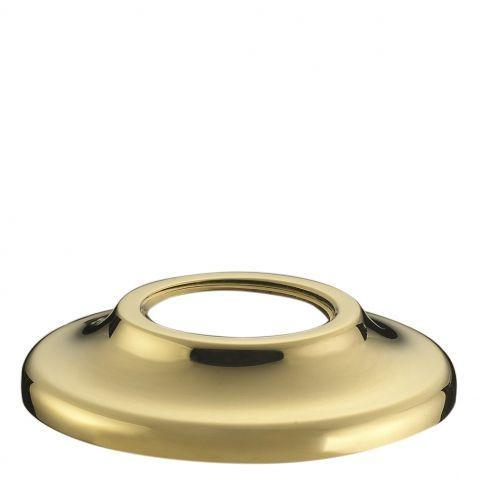 "Waterworks Fallbrook 1 1/8"" Tan Leather Knob in Unlacquered Brass"