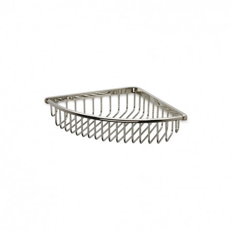 Waterworks Universal Small Corner Soap Basket in Chrome